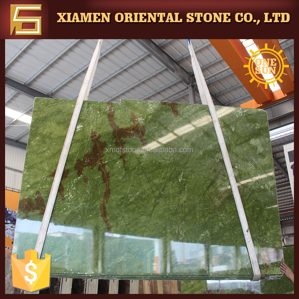 Popular Ming green marble block for home building