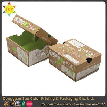 cheap custom shoe box with logo flat pack shoe box shoe box template