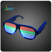 sound activated flashing multicolor light up glow led glasses fashion new style glasses