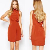 OEM custom Casual dress elegant office ladies dresses women summer clothes