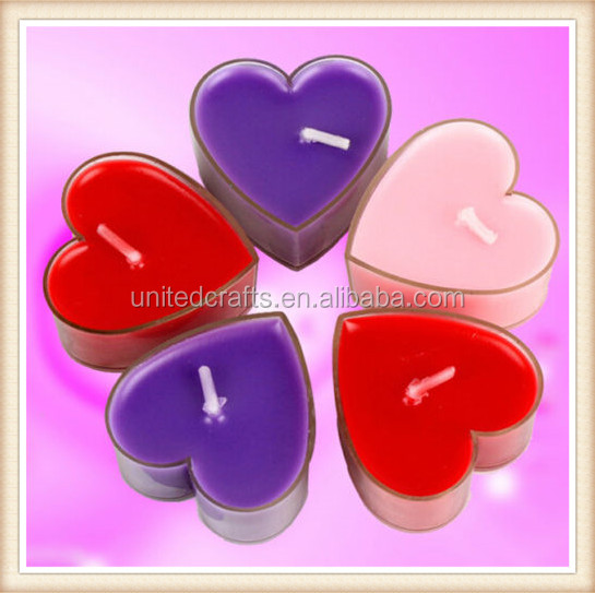9 PCS Creative Heart-shape Candle Love confession Gift Decoration Wedding Favors