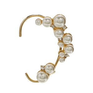 Fashion Jewelry Amazing Cuff Earrings,Punk Style Earrings Women Elegant Alloy Cuff/ear Wrap Clip/pearl white Earrings