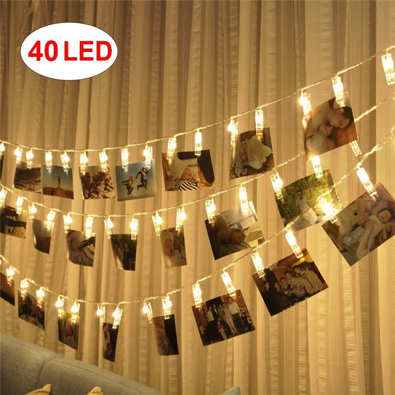 Hot Selling USB Powered LED Foto Clip Lichtslingers (Warm Wit)-40 Foto Clip voor Indoor/Outdoor Versieren