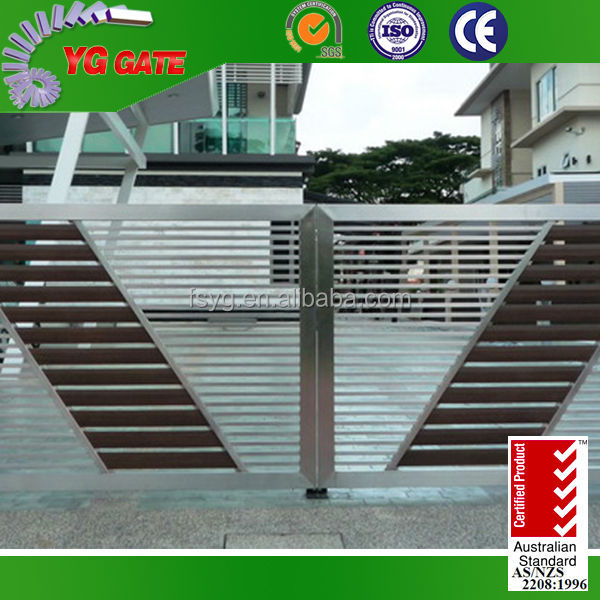 Stainless Steel Modern House Gate Designs: Stainless Steel Main Gate Grill Design Foshan