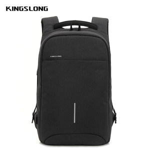 Kingslong guangzhou bags laptop backpack anti theft business charger headphone hole