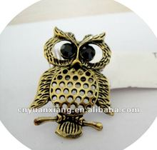Hot design owl animal rings jewellery 2013(YXR021)