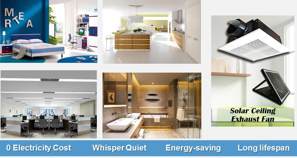 Mit Solarpanel, Dieser Decke Abluftventilator Einfach Entfernt Rauch,  Geruch, Wärme Ohne Elektrische Kosten,eine Mehr Komfort Und Gesundheit  Umgebung Für ...