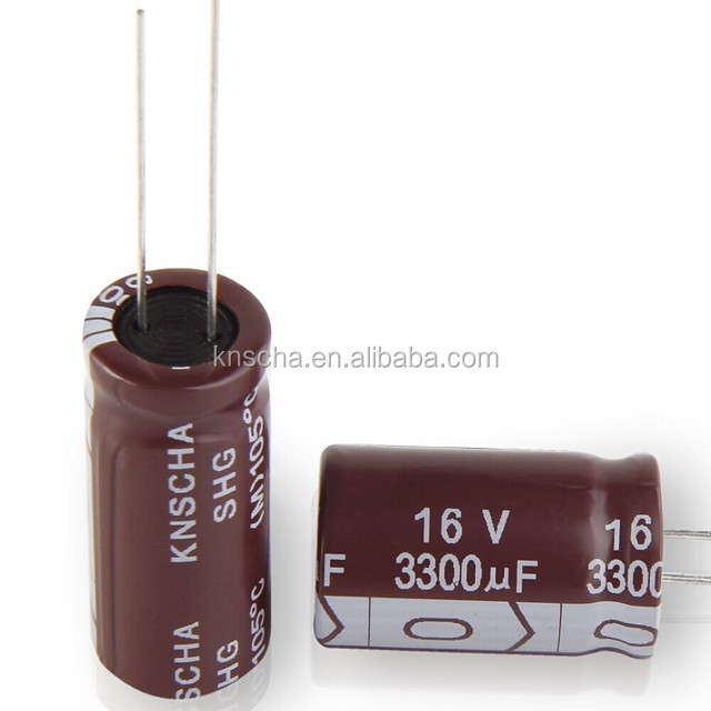 KNSCHA Aluminum Electrolytic Capacitors 220uf 25v with size 8*12mm,widely used in switch power supply and inverters.