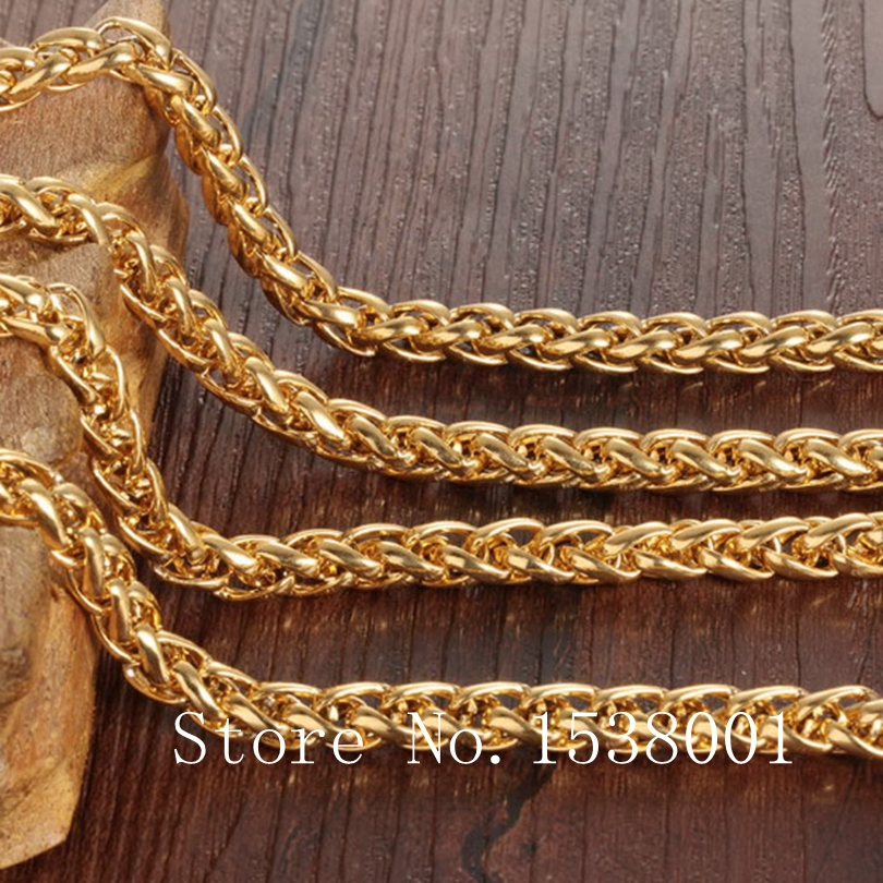 Mens Gold Byzantine Necklace: Byzantine Necklace 18K Yellow Gold Filled Mens Chain