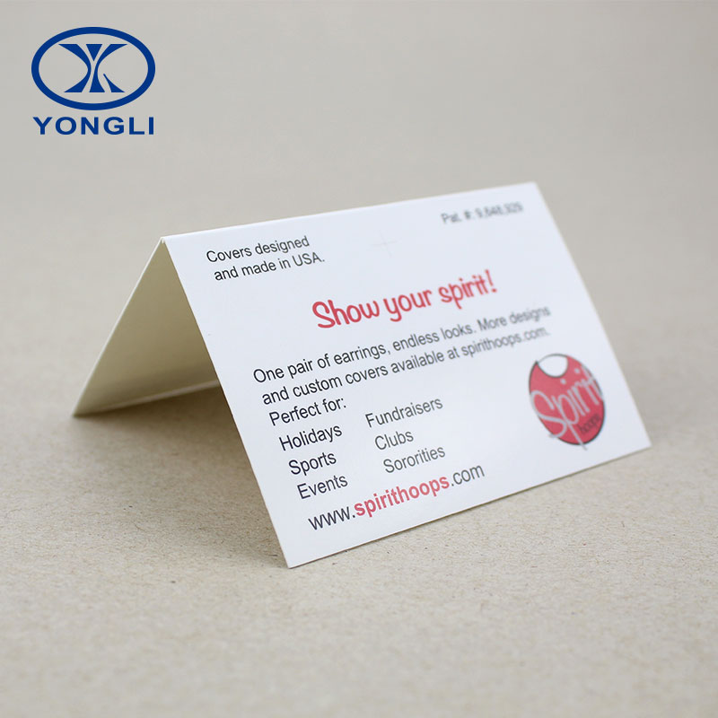 China Custom Paper Earring Business Card Printing Service - Buy ...