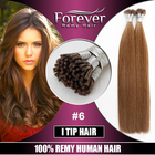 Forever 5a grade wholesale cheap brown colour indian remy double drawn kinky curly wavy i tip hair extensions