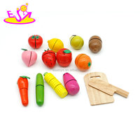 New hottest pretend play kitchen food wooden cutting fruit toy for kids W10B203
