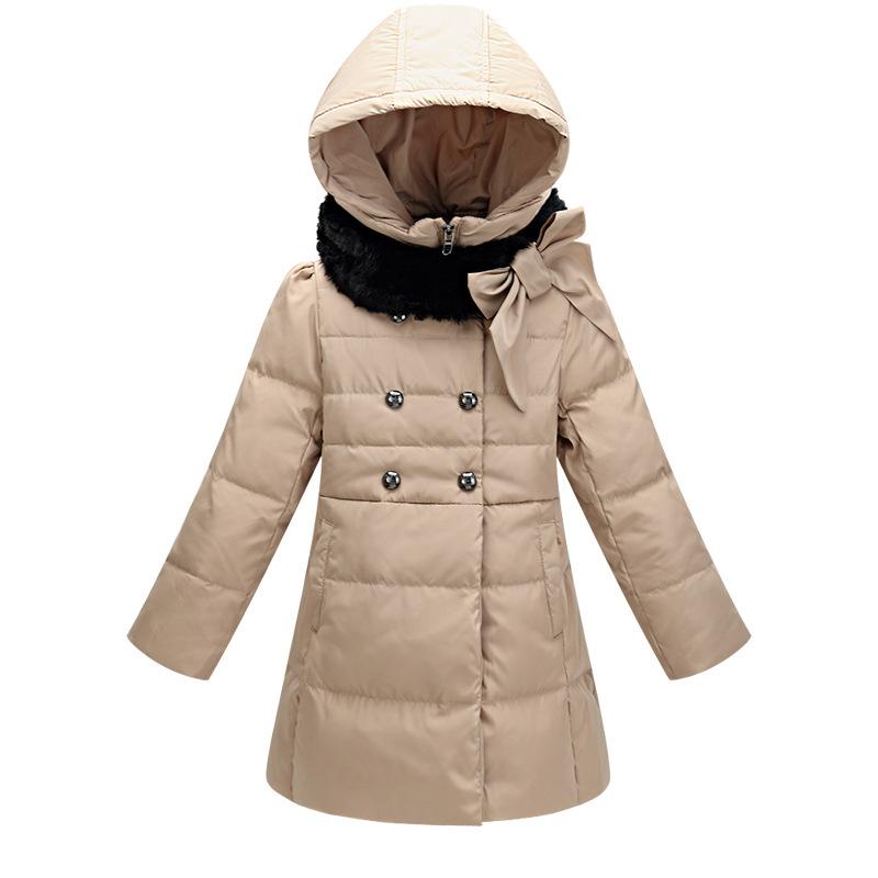df525b8cc6f4 Get Quotations · 2015 Winter Fashion Children Jackets Thick Warm Fur Collar  Hooded Coats Girls Long Down Coats Winter