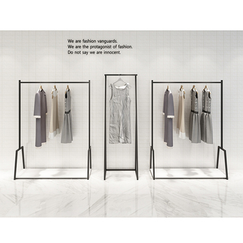 Metal wall mounted clothing stand for display clothes