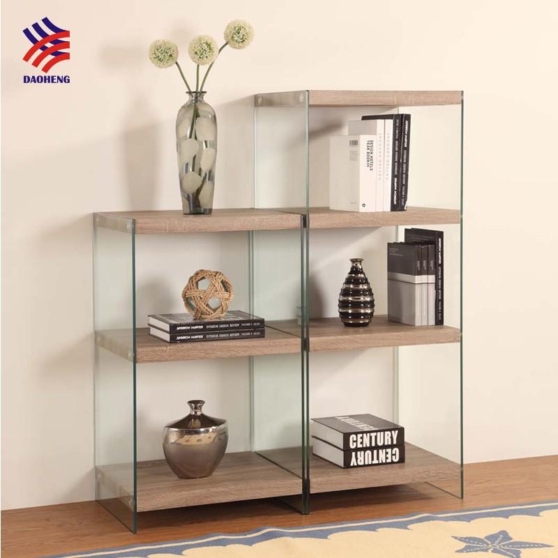 Moderne Einzigartige Design Glas Rahmen Mdf Mit Furnier Bücherregal ...