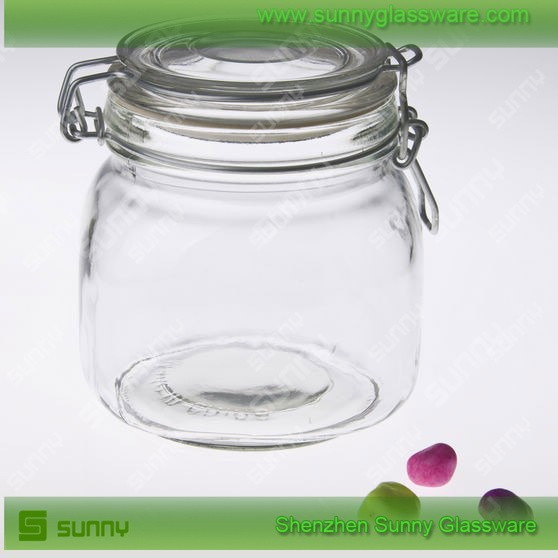 Food pasta candy storage canister set glass jars wholesale