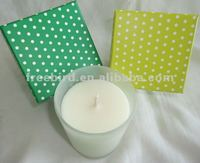 Fragrance oil candle in frosted glass cup, BC003