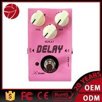 Delay pink electric guitar effect pedal parts