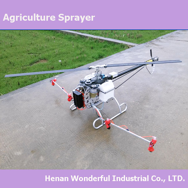 Th80-2 Unmanned Helicopter Remote Control Agriculture Sprayer Farm ...