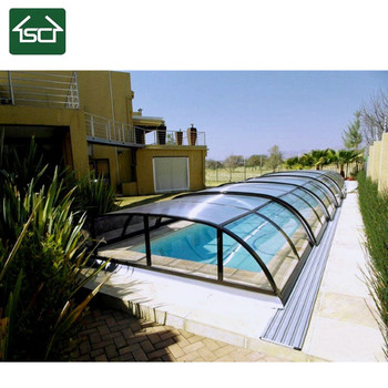 custom any color style polycarbonate roof swimming pool enclosure requirements california