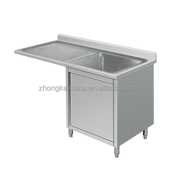 Stainless steel sink base cabinet for Stainless steel kitchen base cabinets