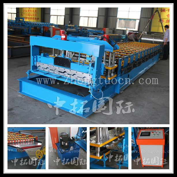 Poland type hot sale hydraulic glazed tile manufacturers of profiled metal and metal tile sheets machines