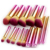 2018 new premium quality 10pcs detachable heads metal color synthetic wholesale Makeup Brushes private label make up brushes