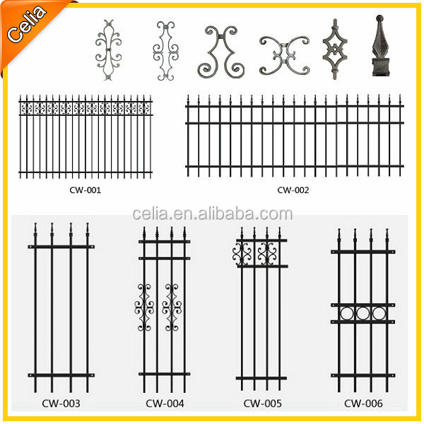 Ornamental fence parts and aluminium tubular fencing buy