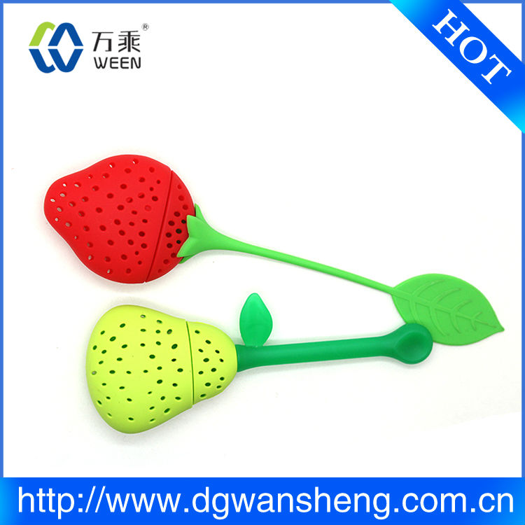 heart silicone tea infuser/fruit infusion tea