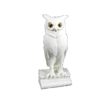 Factory Custom Made Handmade Carved Fashion Resin White Owl Figurines