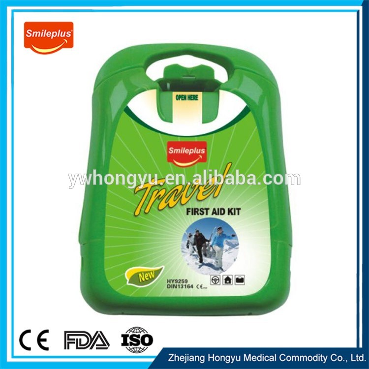 HY9259 China Professional Maker Plastic Travel First Aid Kit
