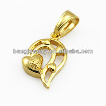 Small heart gold jewelry pendant magnetic clasp pendant
