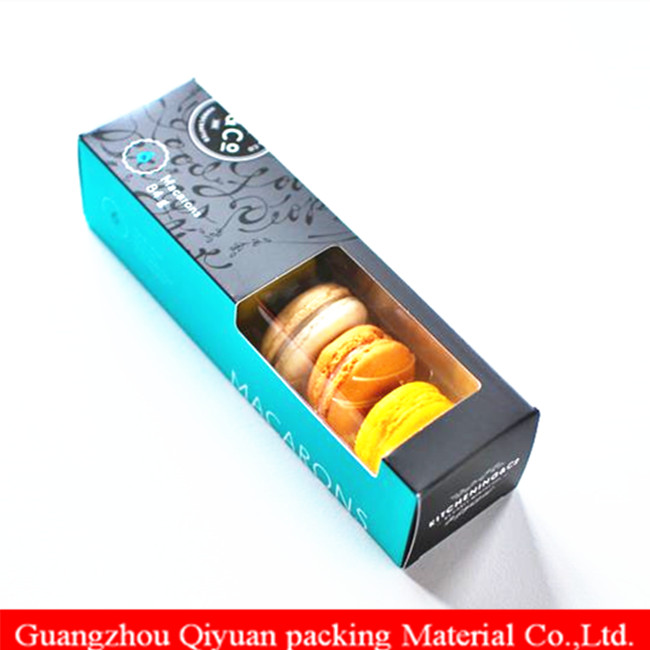Custom  food packaging  paper box, macarons  biscuit candy  cookie  box  packaging, paper box for food