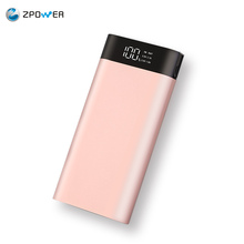 New products 2017 innovative product rose gold metal power bank 20000mah credit card powerbank 50000mah