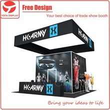 Yota Offer HK Army 20ft Square Trade Show Booth with Big Hanging Banner