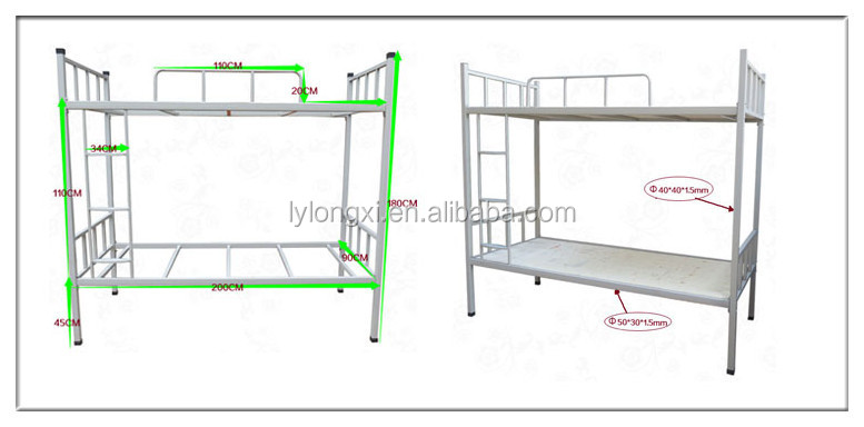 steel bed frame from China, cheep and high quality,steel bunk bed with desk and wardrobe