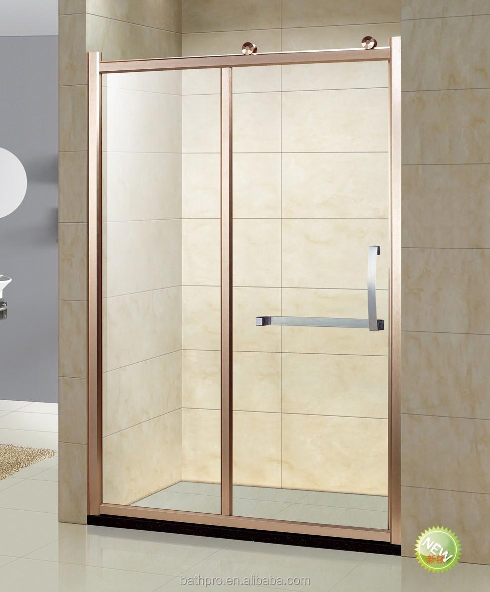 Rose Gold Sliding Door Tempered Glass 6mm Shower Enclosure - Buy 6mm ...