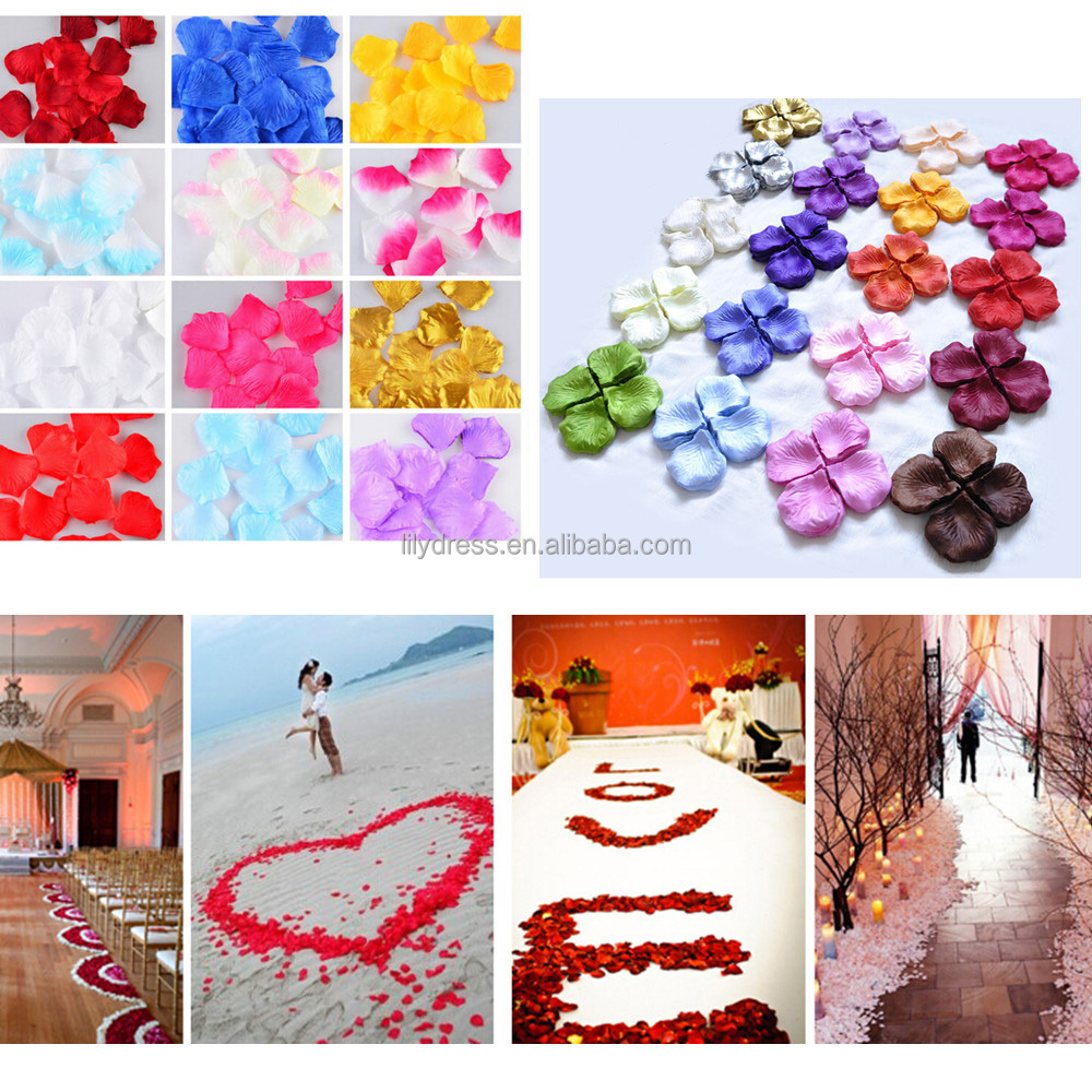 2000 pcs/Pack wedding accessories rose petals wedding table <strong>decoration</strong> rose petals for weddings RP4