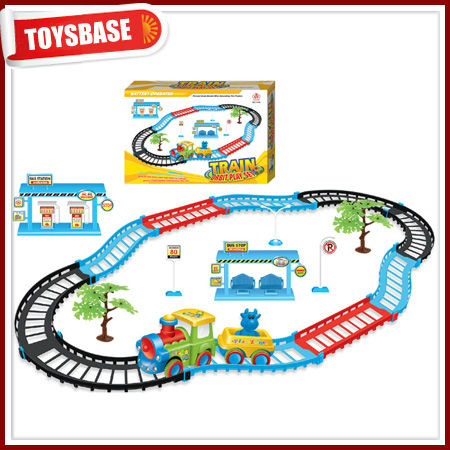 Kids battery operated toy train set