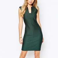 Women Pencil Stripe Elegant Women Career Dress
