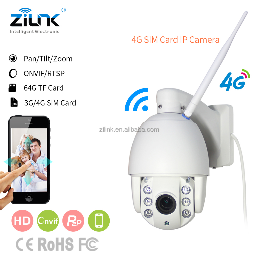 Smart ip camera SIM card based outdoor waterproof support solar power wireless 3g ptz camera
