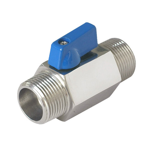 Male/Male Mini Ball Valve For Oil Water <strong>Gas</strong>
