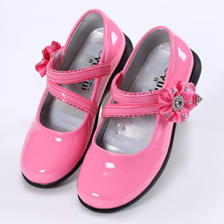 YY10188S Beautiful design flower decoration children girls dress shoes casual