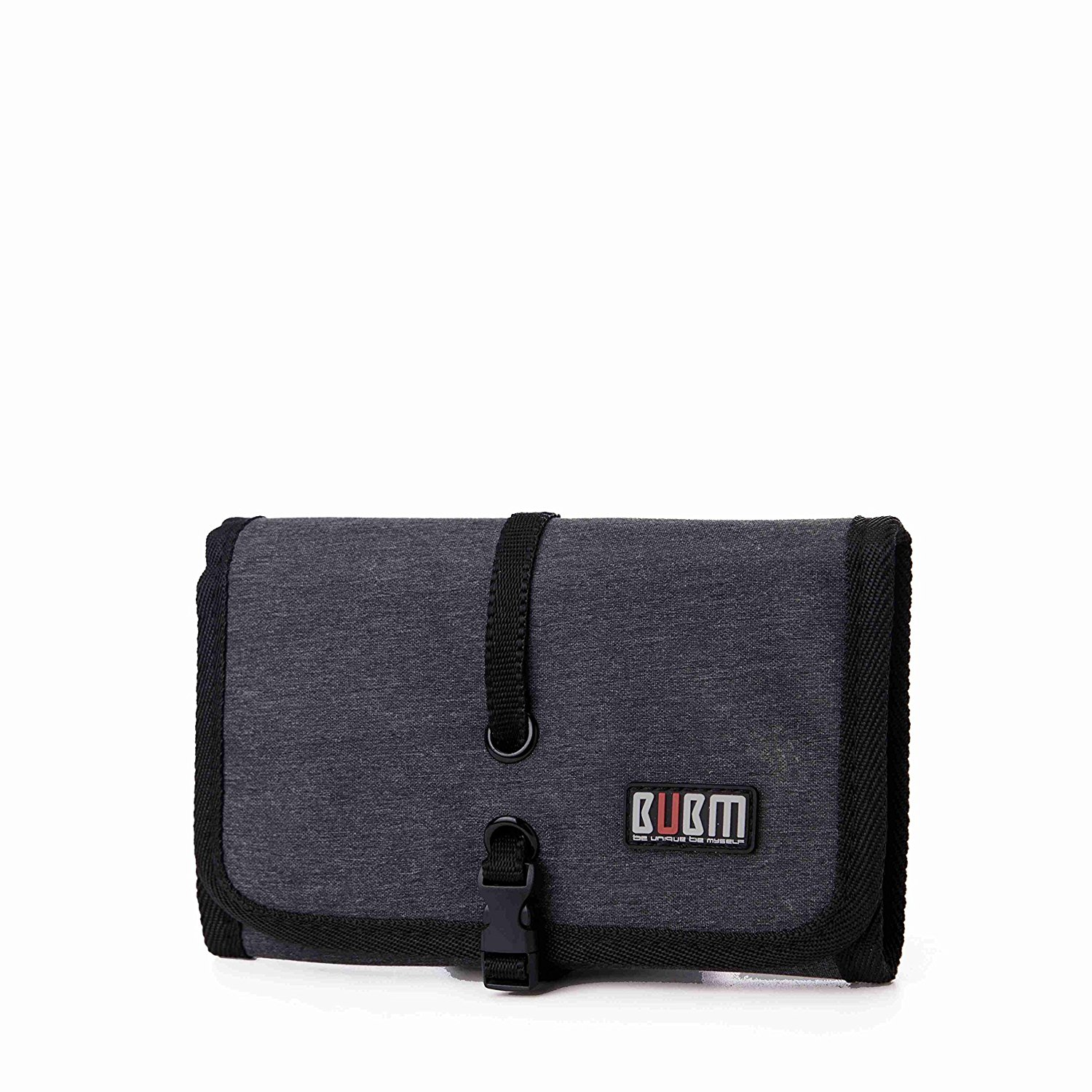Portable Universal Cable Organizer Electronics Accessories Roll Up Folding Travel Bag USB Drive Bag Cable Stable Healthcare Kit(small, Black)
