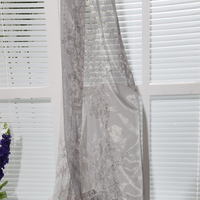 Unique types Dubai 100% polyester embroidery tulle curtain fabric for kids room drapes