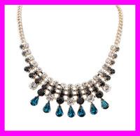 Newest fashion lady gold chain jewellery indian bridal choker necklace HD5721