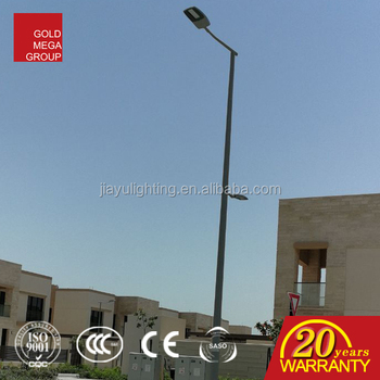 round conical shape aluminum profile decorative street lighting pole