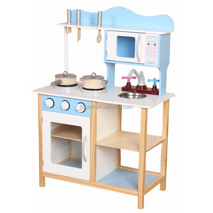PLK504 Lovely Easy Assembly Role Play Interactive Toy Kitchen Sets, Pretend Play Kitchen For Wholesale, Kids Toy Kitchen Set