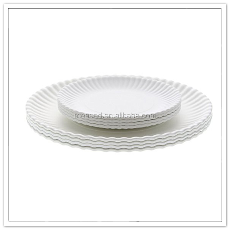 China professional manufacture bulk white round plate