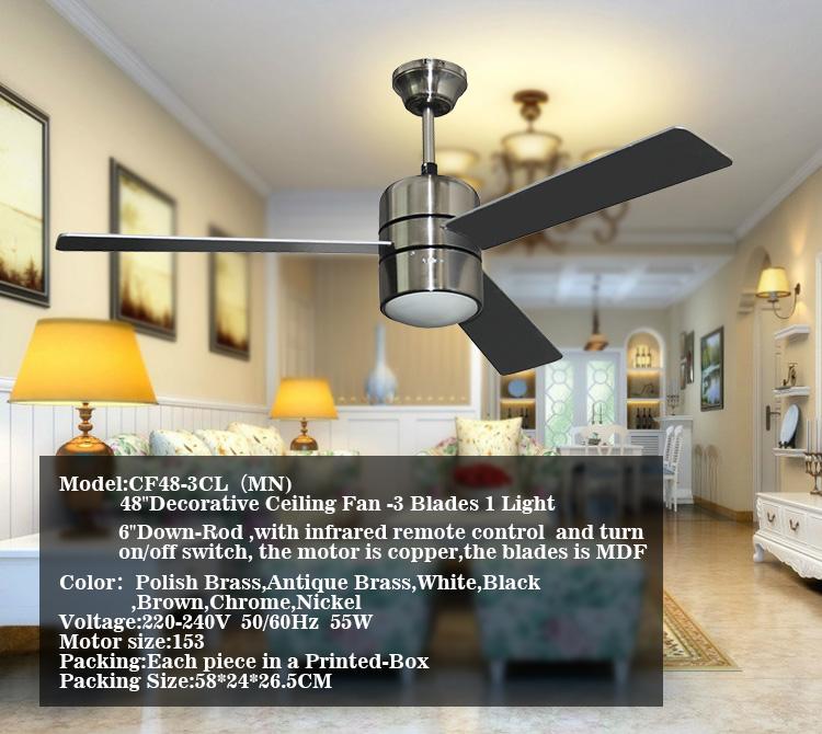 Attirant Vent Fort Et Silencieux Pour Salle à Manger En Utilisant Moderne Ventilateur  De Plafond Du0027